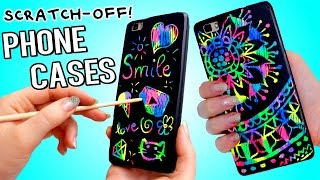 DIY Scratch-Off Phone Cases! Magic Reusable Iphone Cases! NO Wax Crayons!