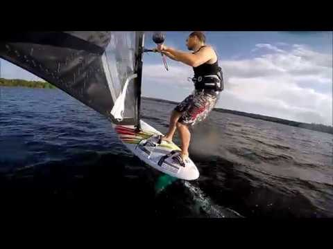 Learning Windfoiling Log 9, NP Glide Foil, 8 Aug 2019