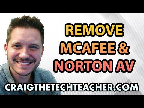 How To Uninstall Windows 7 McAfee and Norton Antivirus - Ep. 2