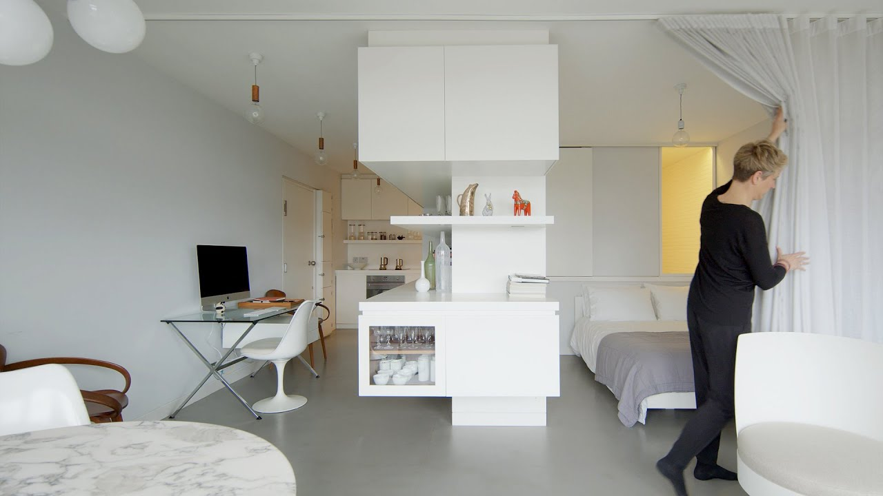 Never Too Small 41sqm 441sqft Small Apartment Barbican Studio Youtube