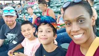 Family Fun at Our First T-Bones Baseball Game... Stuck in the House on My Day Off