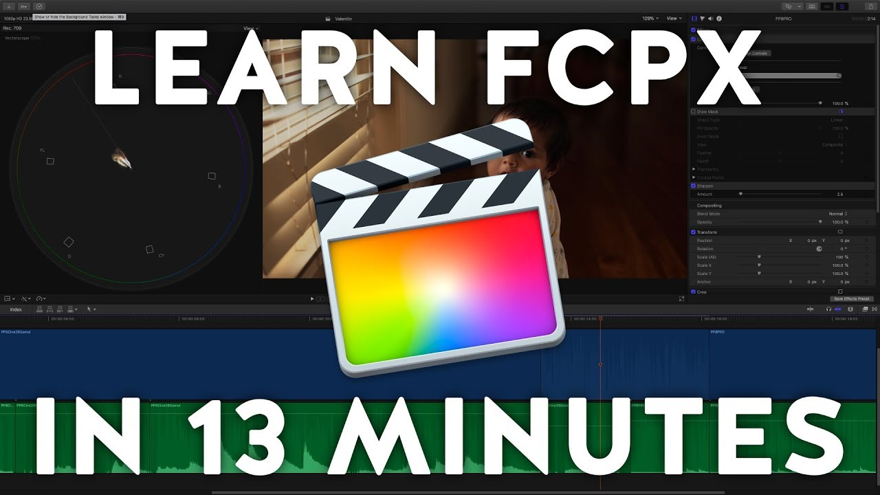 Learn Final Cut Pro X in 13 Minutes | Tutorial Beginners