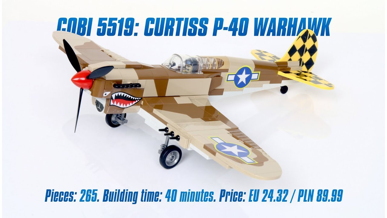 COBI 5519 plane 265 bricks Curtiss P40 Warhawk