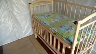 Мальвина - детская кроватка на шарнирах. Бук.
