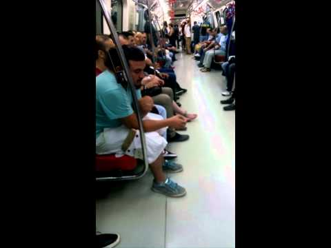 Traveling in a metro, Istanbul 2015/07/04