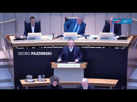 Rede von Georg Pazderski in der Generaldebatte des Abgeordnetenhause 2019