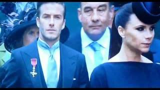 Victoria & David Beckham At the Royal Wedding First Look At Wedding
