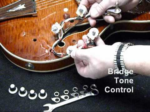 rewiring a semi hollow guitar part one youtube rh youtube com guitar cabinet wiring rewiring a semi hollow guitar