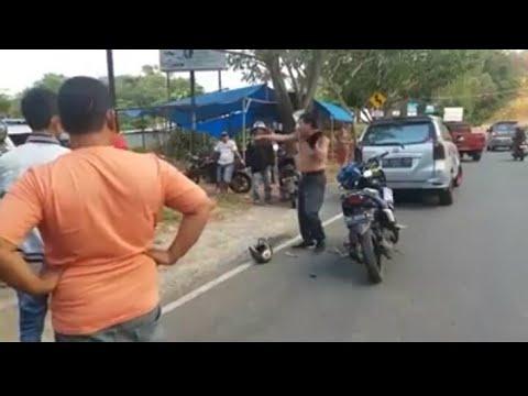 Pria Mengamuk Saat Ditilang Polisi, Lepas Baju Dan Minta Ditembak