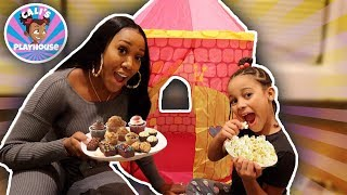 Sleepover Party with Cali | Cali's Playhouse