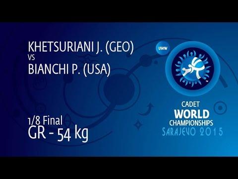1/8 GR - 54 kg: J. KHETSURIANI (GEO) df. P. BIANCHI (USA) by TF, 8-0
