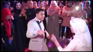 رقص عروسين يجنن على اغنية نداء شرارة حبيتك بالتلاتة دمهم خفيف اوى