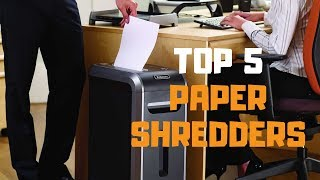 Best Paper Shredder in 2019 - Top 5 Paper Shredders Review