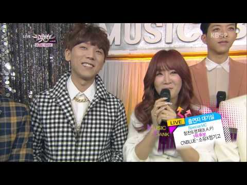 140307 SoYou X Jung Gi Go & CNBLUE - INTERVIEW @ Music Bank [720P]