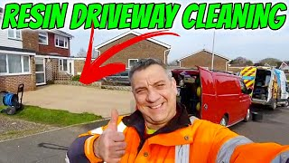 Resin bonded driveway cleaning