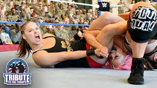 Rousey & Natalya vs. Jax & Tamina vs. Morgan & Logan: WWE Tribute to the Troops, Dec. 20, 2018