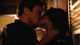 Castle 4x23 'Always' - Steamy kiss scene in Slow motion and Brightness