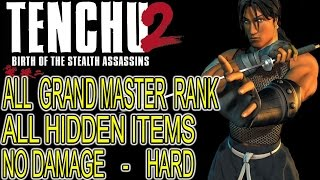 Tenchu 2 - TATSUMARU - Walkthrough 100% [1080p HD] All Grand Master Rank