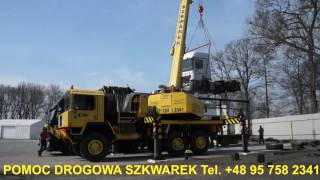 Pomoc Drogowa Świecko Niemcy SZKWAREK   Załadunek Ciągnik siodłowego   Holowanie Lubuskie Autostrada