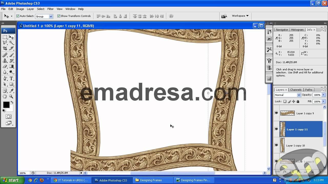 Designing Round Urdu Poetry Frame Photoshop Urdu Hindi Tutorials by ...