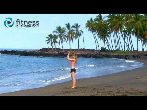 Kona Beach Bikini Body Workout - No Equipment Body Sculpting Workout - Sand, Surf & Sweat