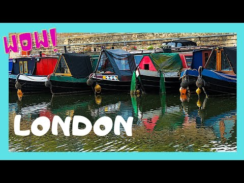 LONDON, walking along beautiful and busy REGENT'S CANAL