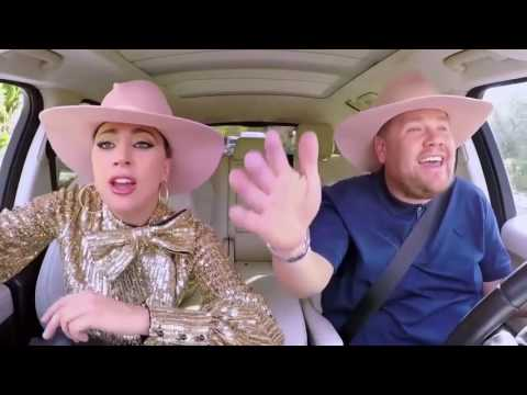 "Lady gaga singing ""Millions reasons"" in carpool karaoke!"