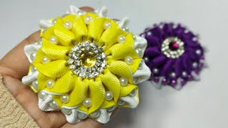 New https://youtu.be/8hkb9kjyaf0 this video about: amazing ribbon flower work, beautiful flower, hand embroidery, and easy making ...