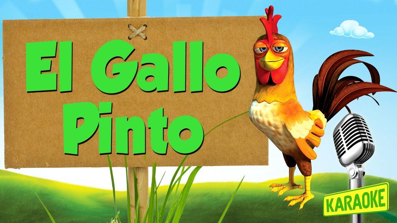 KARAOKE El Gallo Pinto, con letra - YouTube