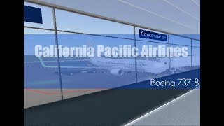 California Pacific Airlines [CPA] | ROBLOX 737-8 Flug