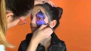 Repeat youtube video Anleitung Kinderschminken - Schmetterling