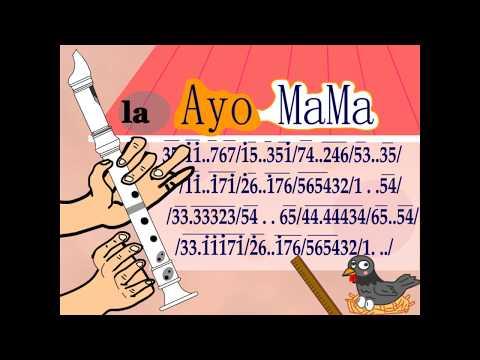not angka ayo mama + recorder tutorial