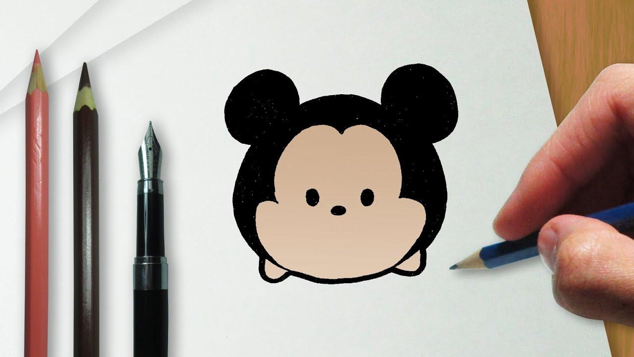 Como Dibujar Y Pintar A Tsum Tsum De Ariel 2: Como Desenhar O Mickey Na Versão Disney Tsum Tsum