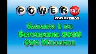 Gambar cover Resultados Powerball 1 Septiembre 2018 $90 Millones de dolares Powerball en Español