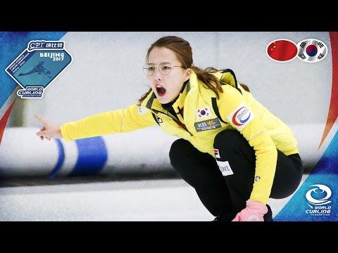 China v Korea - CPT World Women's Curling Championship 2017