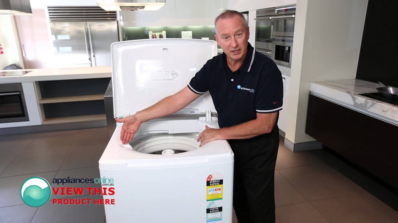 Smart Simpson SWT801 top load washer with EZI sensor explained by expert  Appliances Online