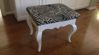 Easy Diy Chair Makeover - Painting & Upholstery