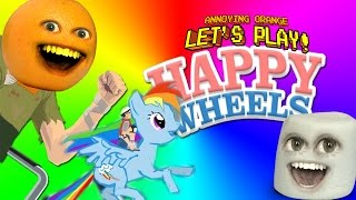 Annoying Orange and Marshmallow Play - HAPPY WHEELS: Rainbow Balls!