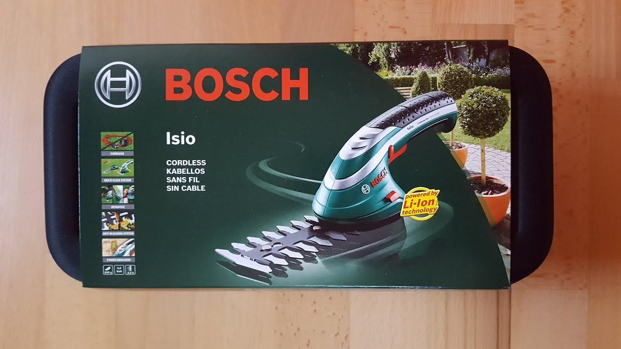 Ungdommelige Bosch Isio 3,6V kabellose Akku Heckenschere - [Unboxing! 4K] - YouTube ED63