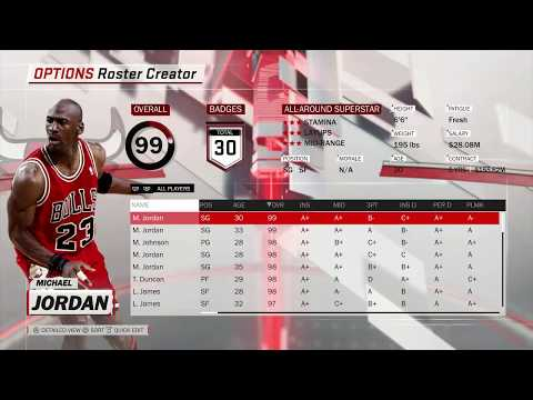 NBA 2K18 Full Ratings - Current Players/Legends/All-Time Teams/Free Agents