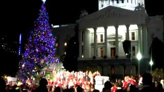 Capitol Christmas tree lighting ceremony. Sacramento