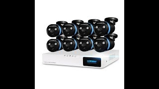 Распаковка видеонаблюдения h.view 8 шт. 1080 P CCTV Камера 2.0MP