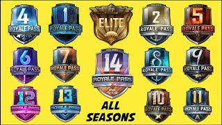 PUBG MOBILE SEASON 1 TO SEASON 13, SEASON 14 ROYALE PASS REWARDS AND TRAILERS
