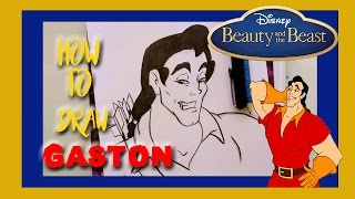 How to Draw GASTON from Disney