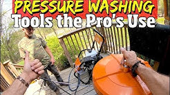 Best Pressure Washing tools & attachments for Decks, concrete driveways and heavy Equipment