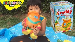CATCHING BABY FISHES with Musical Freddy and his Flying Fish toys for kids playtime game