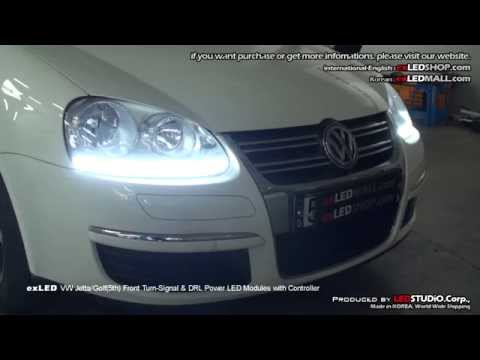 exLED VW Jetta/Golf(5th) Front Turn-Signal & DRL Power LED Modules with Controller