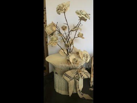 lampe aus papier r llchen gerade hoch doovi. Black Bedroom Furniture Sets. Home Design Ideas