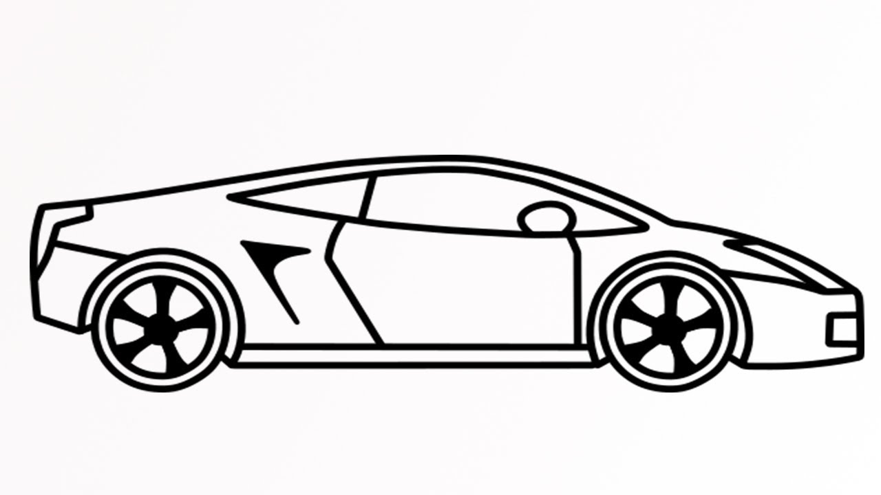 How to draw a Lamborghini car easy step by step