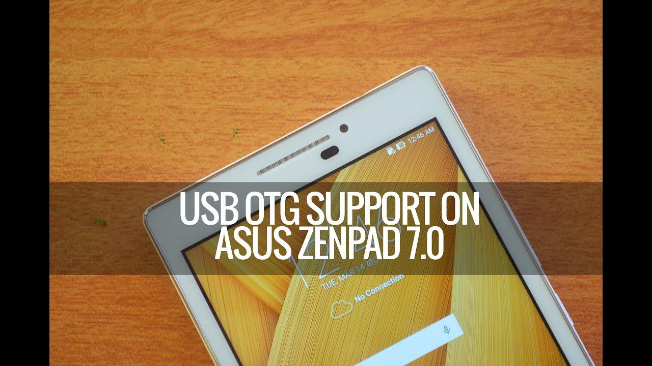 USB OTG Support on ASUS ZenPad 7 0